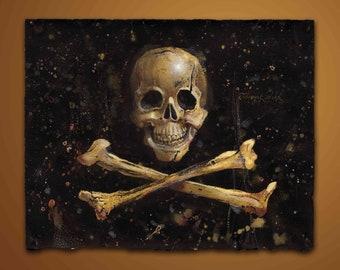 Edward England's Pirate Flag, Fine Art Print, Free Domestic Shipping, Low International Shipping