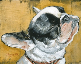 French Bull Dog (Fine Art Print not a real Dog)