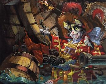 Pirate Cat (Fine Art Print not a real Pirate Cat)