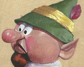 Boss Elf(Fine Art Print not a real Elf Foreman.)