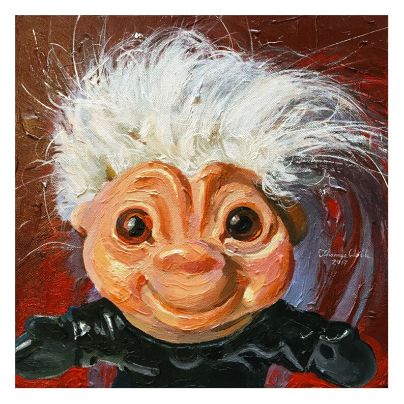 Troll Doll, Captain Lightning, Dam Thing Troll 1964 (Fine Art Print not a  real Troll Doll)