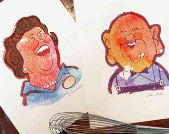 Gigi - James Beard and  Julia Child, Fine Art Prints