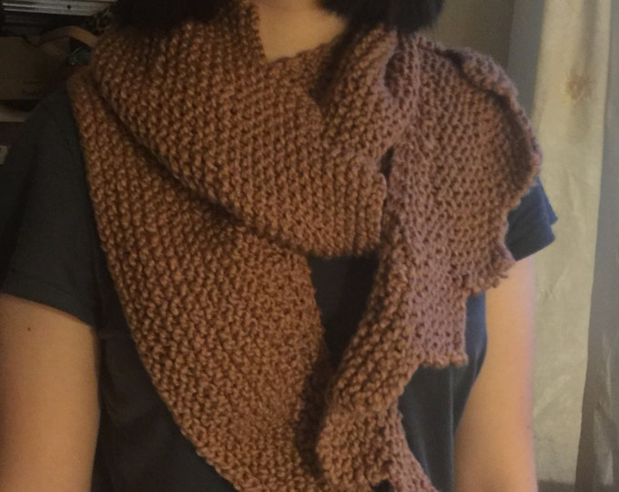 Organic Natural Brown Cotton Scarf
