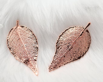 Evergreen Leaf Brooch Rose Gold, Real Leaf Pin, Real Leaf, Evergreen Leaf, Leaf Brooch, Rose Gold Leaf, Nature, Pink pin