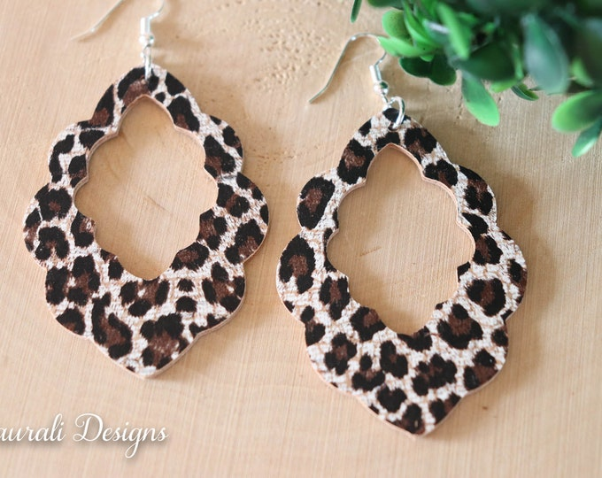 Leather & Cork Earrings