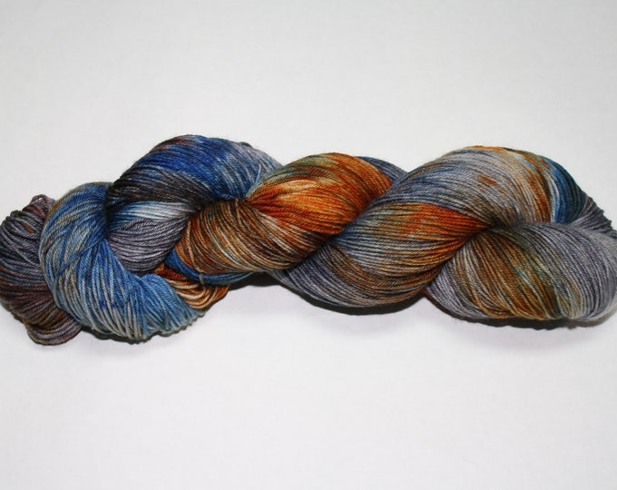 Ready to Ship - Gear Head Hand Dyed Sock Yarn - Bulky Merino