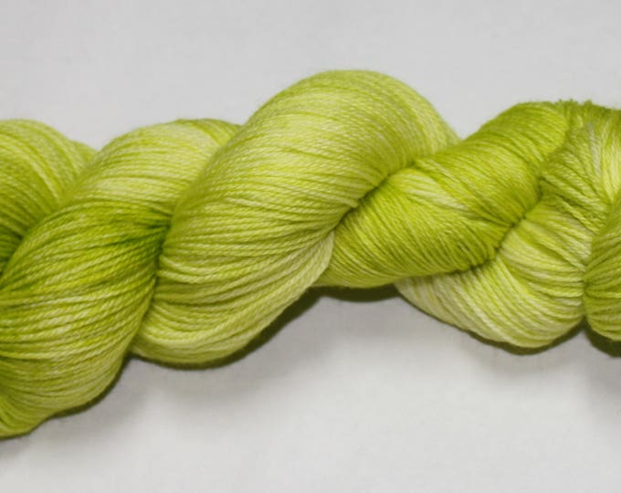 Ready to Ship - Celery Hand Dyed Sock Yarn - Sparkle Singles