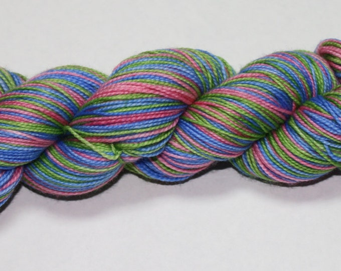 Christmas Bauble Self Striping Hand Dyed Sock Yarn