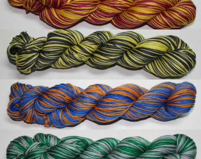Hybrid House Colors Self Striping Hand Dyed Sock Yarn