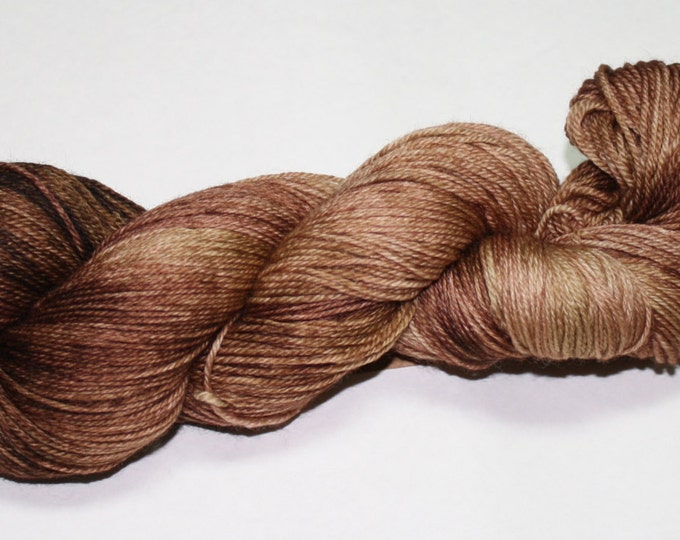 Ready to Ship - Fall Brown Hand Dyed Sock Yarn - Sport Sock