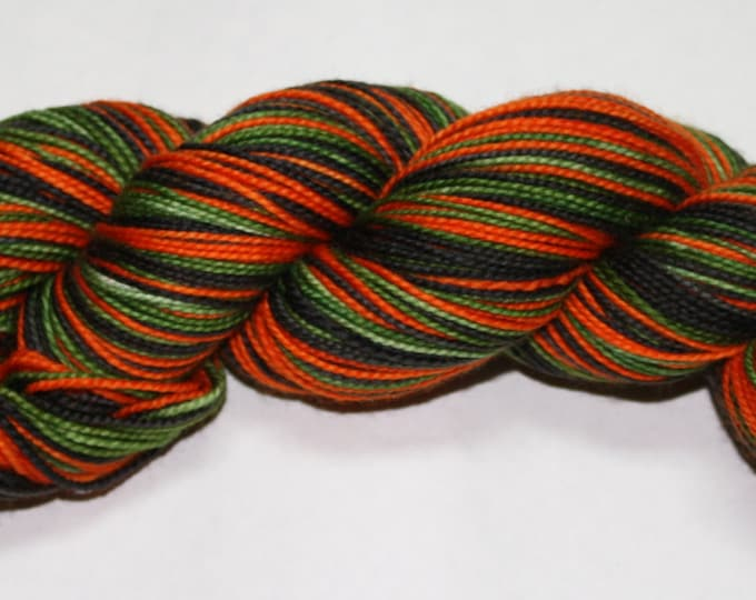Vintage Halloween Self Striping Hand Dyed Sock Yarn