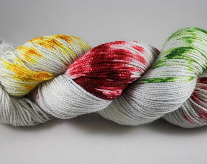 North Pole Hand Dyed Sock Yarn