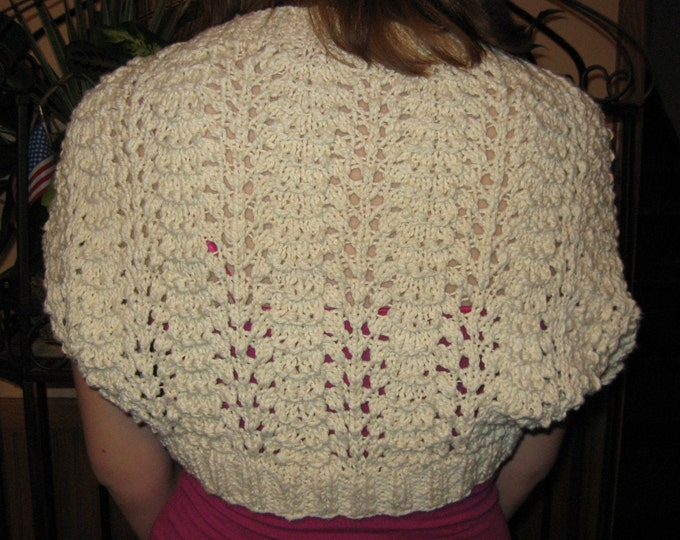 Old Shale Shrug Pattern PDF