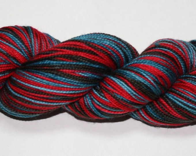 Ready to Ship - Bah Humbug Self Striping Hand Dyed Sock Yarn - Tough Sock