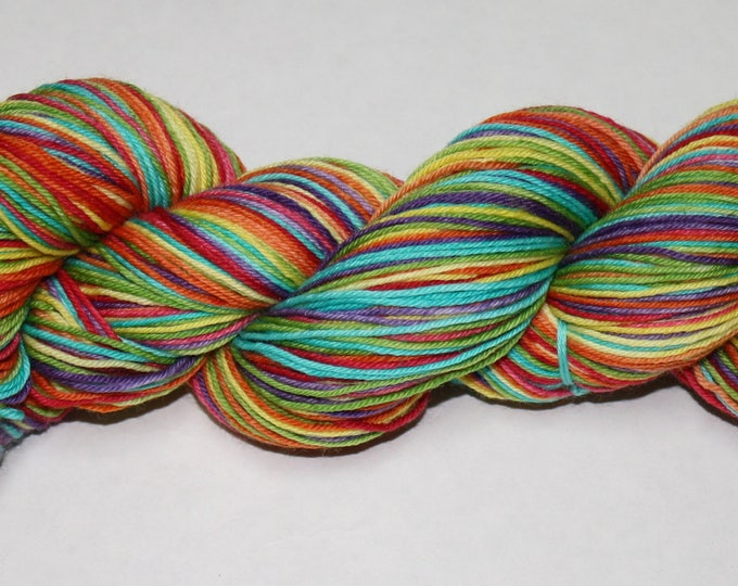 Ready to Ship - Be a Rainbow In Somebody Else's Cloud Self Striping Hand Dyed Sock Yarn - Superwash Worsted