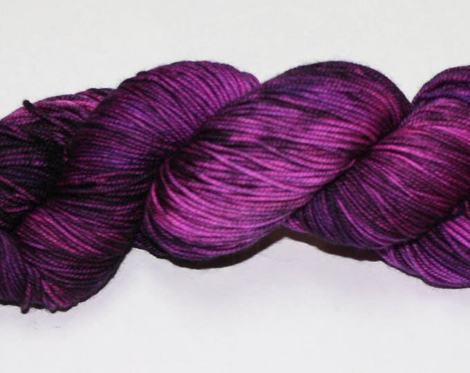 Ready to Ship - Black Hearted Hand Dyed Yarn