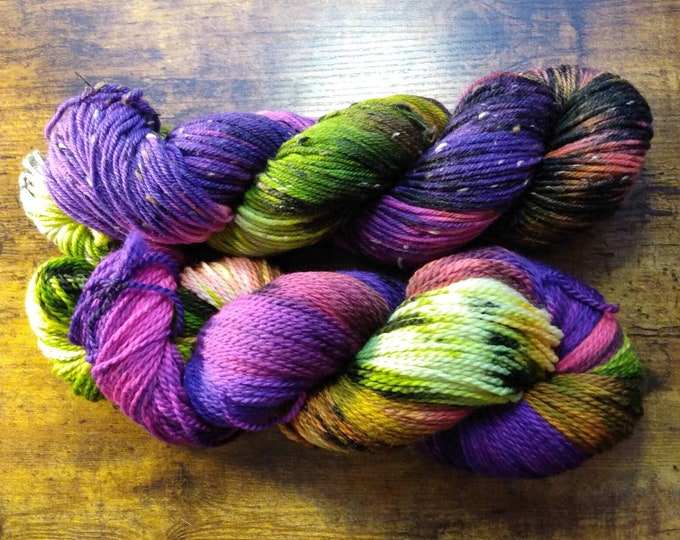 Ready to Ship - Monster Mash Hand Dyed Yarn