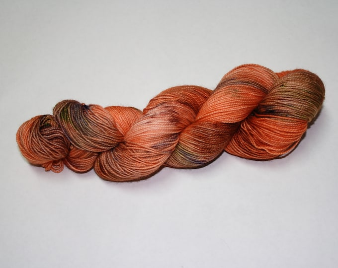Pumpkin Patch Hand Dyed Sock Yarn
