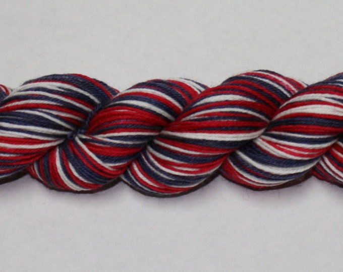 Let's Have a Capital Time Self-Striping Hand Dyed Sock Yarn