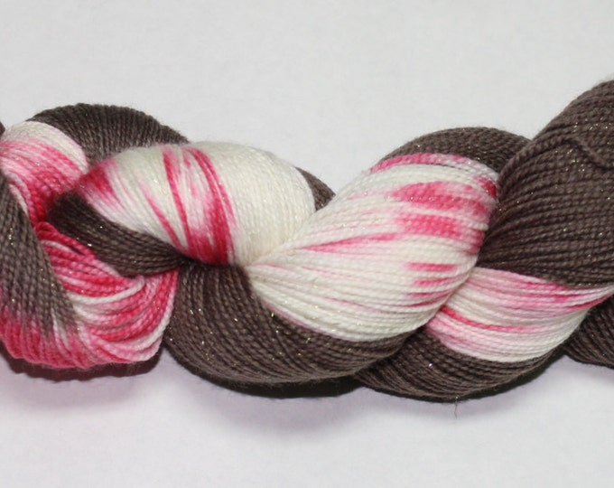 Peppermint Bark Hand Dyed Yarn