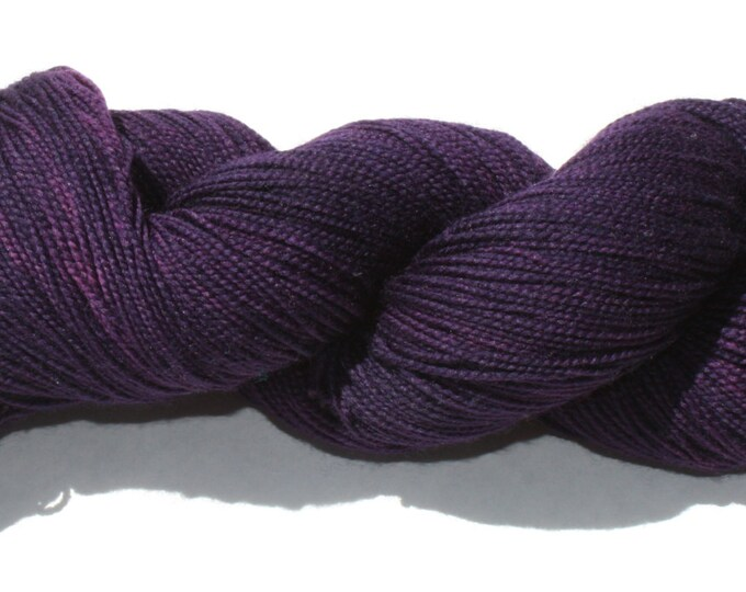 Ready to Ship - Sherlock's Purple Shirt of Sex Hand Dyed Yarn
