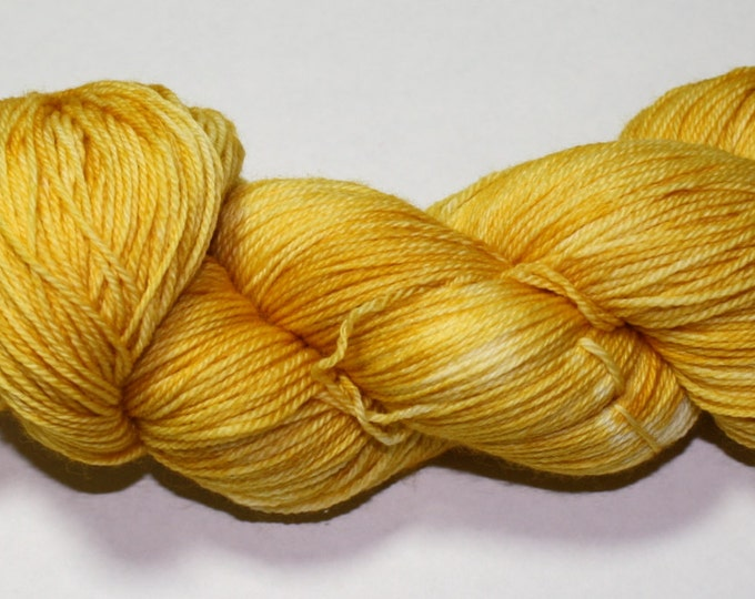 Gold Hand Dyed Sock Yarn