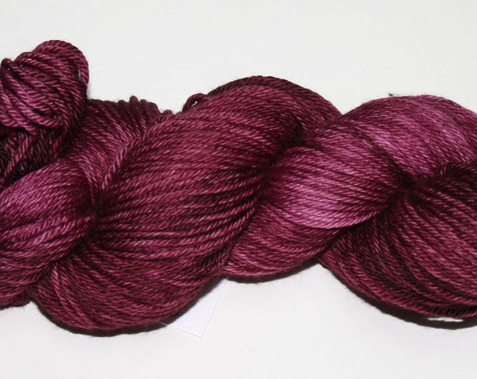 Ready to Ship - Cabernet Hand Dyed Sock Yarn - Sweater Worsted