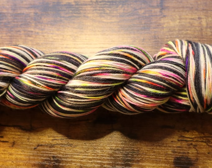 Ready to Ship - Ghostly Self Striping Hand Dyed Sock Yarn