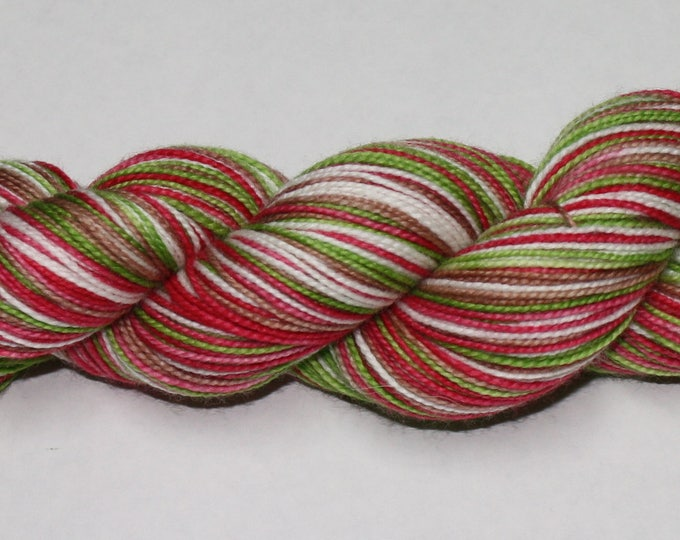 Gingerbread House Self Striping Hand Dyed Sock Yarn