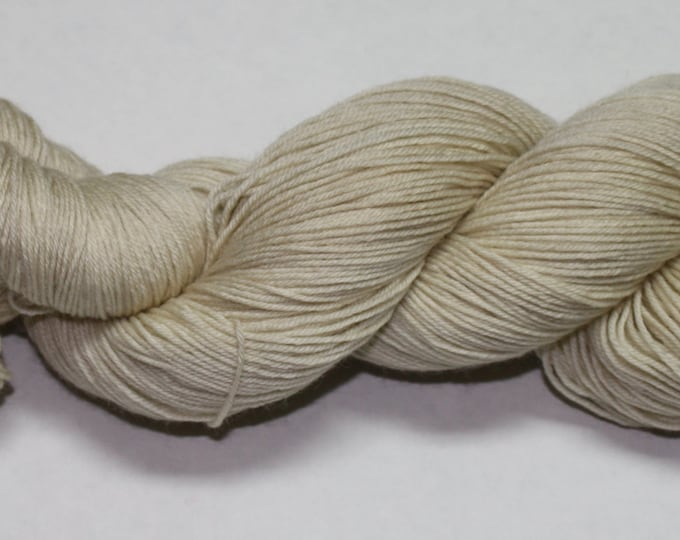 Ecru Hand Dyed Sock Yarn