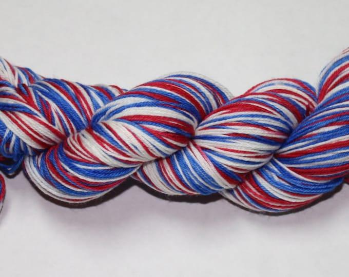 Ready to Ship - Patriotic Self Striping Sock Yarn - Sport Sock