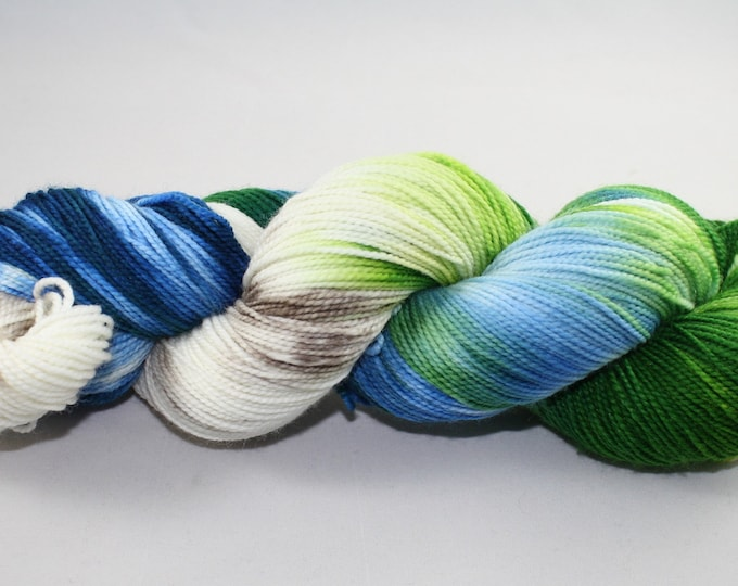 Beach Glass Hand Dyed Sock Yarn