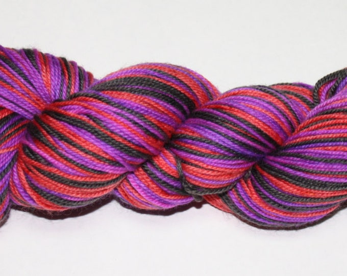 Dark Shadows Self Striping Hand Dyed Sock Yarn