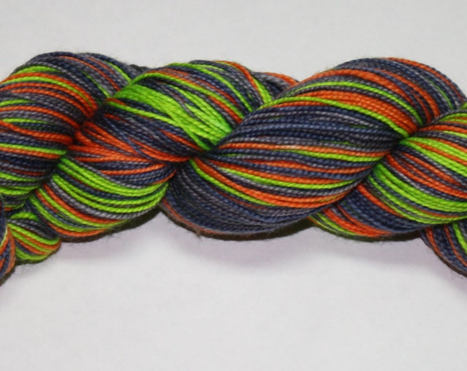 Ready to Ship - Witching Hour Self Striping Hand Dyed Sock Yarn - Twist Sock