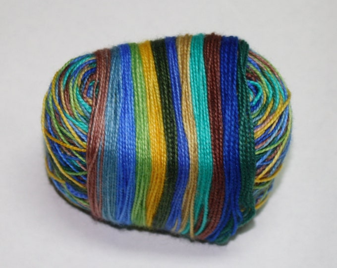 Ready to Ship - Pewabic Inspired 12 Days of Christmas Self Striping Hand Dyed Sock Yarn - Sport Sock