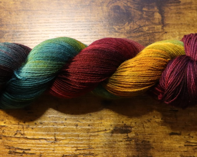 Ready to Ship - Zoom for the Holidays Hand Dyed Sock Yarn