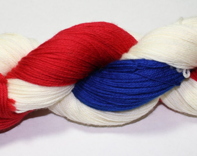 Patriotic Hand Dyed Sock Yarn