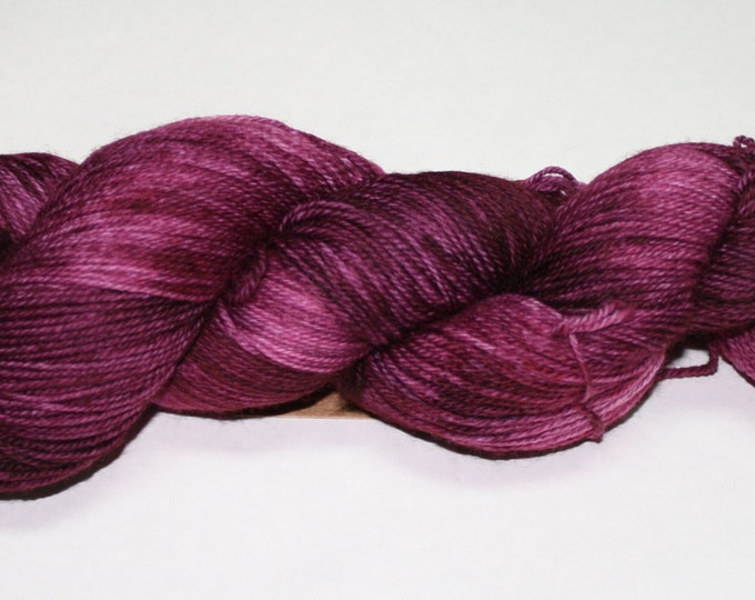 Ready to Ship - Plum Hand Dyed Sock Yarn - Soft Sock