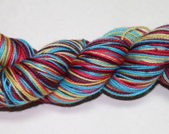 Desert Sunset Self Striping Hand Dyed Sock Yarn