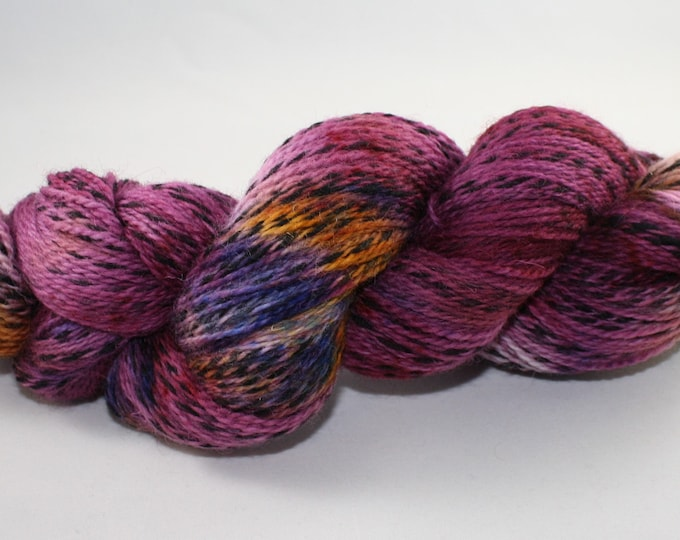 Ready to Ship - Keep Calm and Wear a Mask Hand Dyed Yarn - Marl Fingering