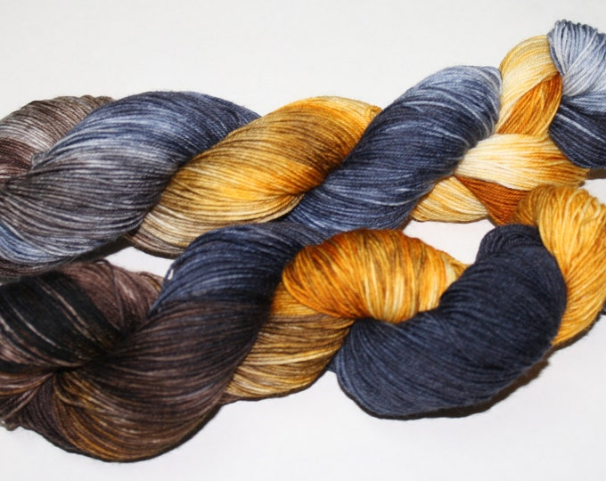 Ready to Ship - Fantastic Beasts Hand Dyed Sock Yarn - Tough Sock