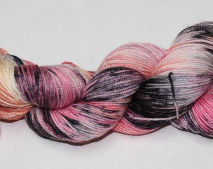 Ready to Ship - Zombie Romance Hand Dyed Sock Yarn