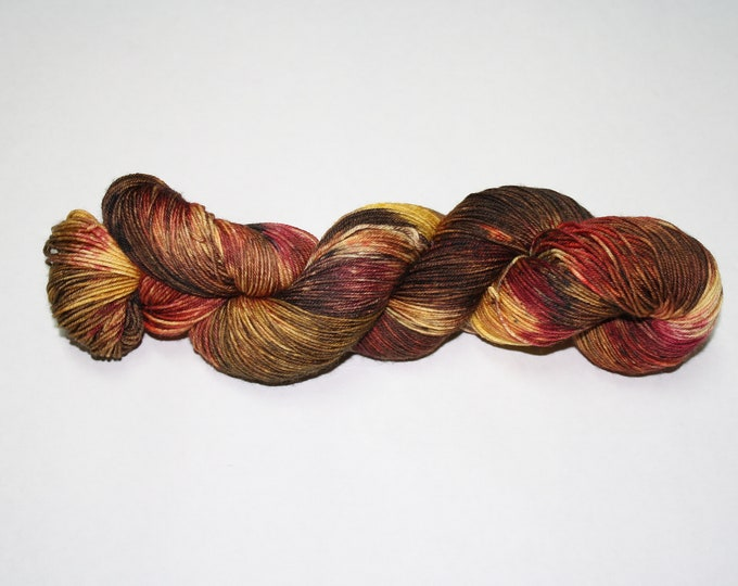 Fall Run Hand Dyed Sock Yarn