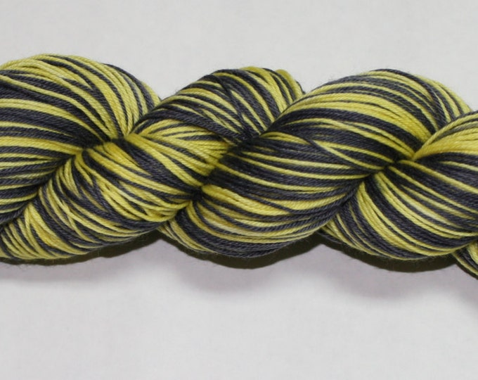 Ready to Ship - Hufflepuff Self Striping Hand Dyed Sock Yarn - Tough Sock 50 gram