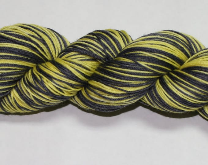 Hufflepuff Self Striping Hand Dyed Sock Yarn
