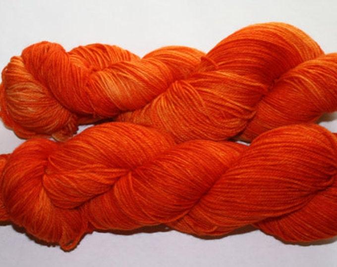 Ready to Ship - Make It Orange Hand Dyed Sock Yarn - Soft Sock