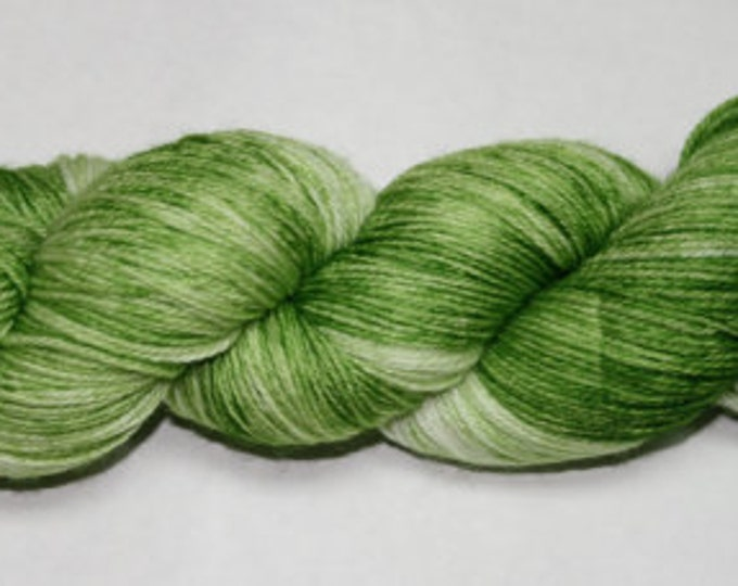 Ready to Ship - Grass Hand Dyed Sock Yarn - Soft Sock