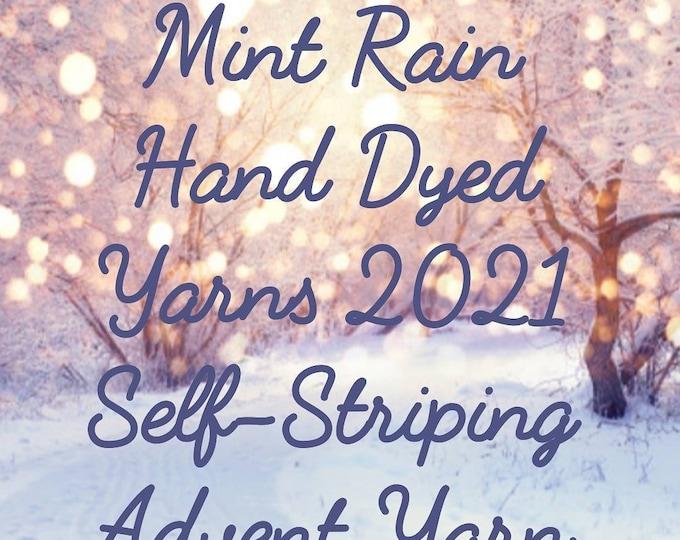 Pre-Order -  2021 Advent Self Striping Hand Dyed Sock Yarn