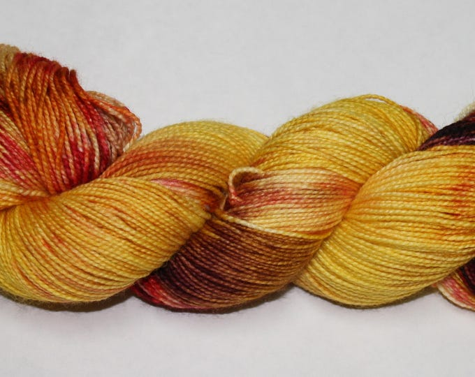 Ready to Ship - Leaf Pile Hand Dyed Sock Yarn - Bulky Merino