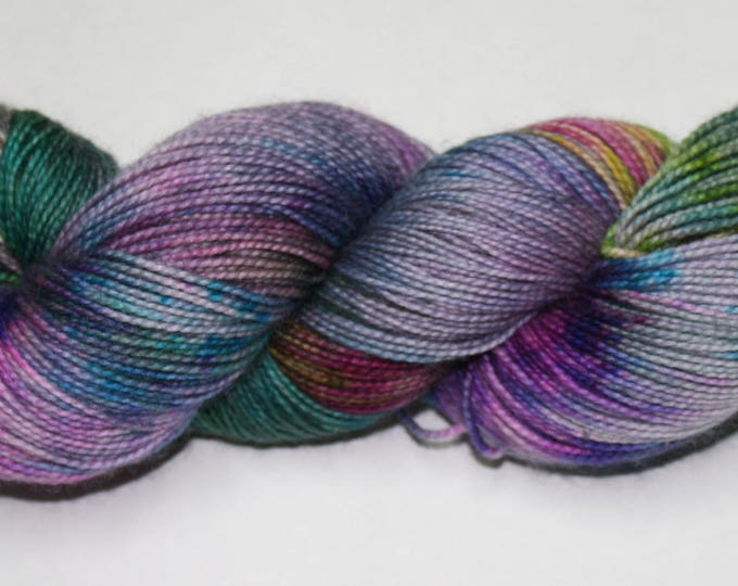 Ready to Ship - Don't Trust the Bubbles Hand Dyed Sock Yarn - Twist Sock